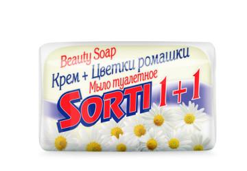 Мыло sorti 1+1 цветки ромашки